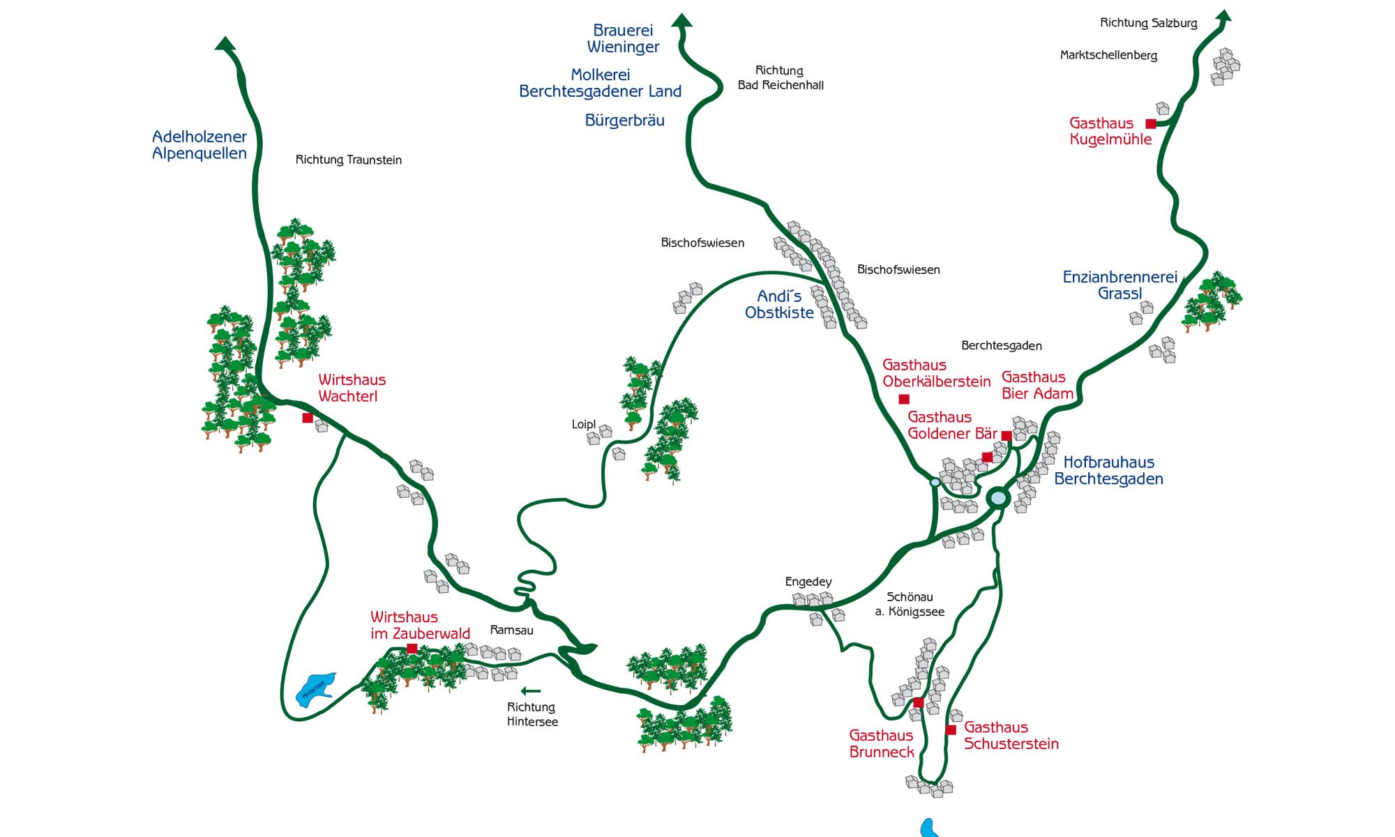 Berchtesgadener Land Karte.Weiss Blaue Wirtshäuser In Berchtesgaden Bayerische Küchentradition